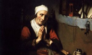 Nicholaes Maes, Old Woman in Prayer