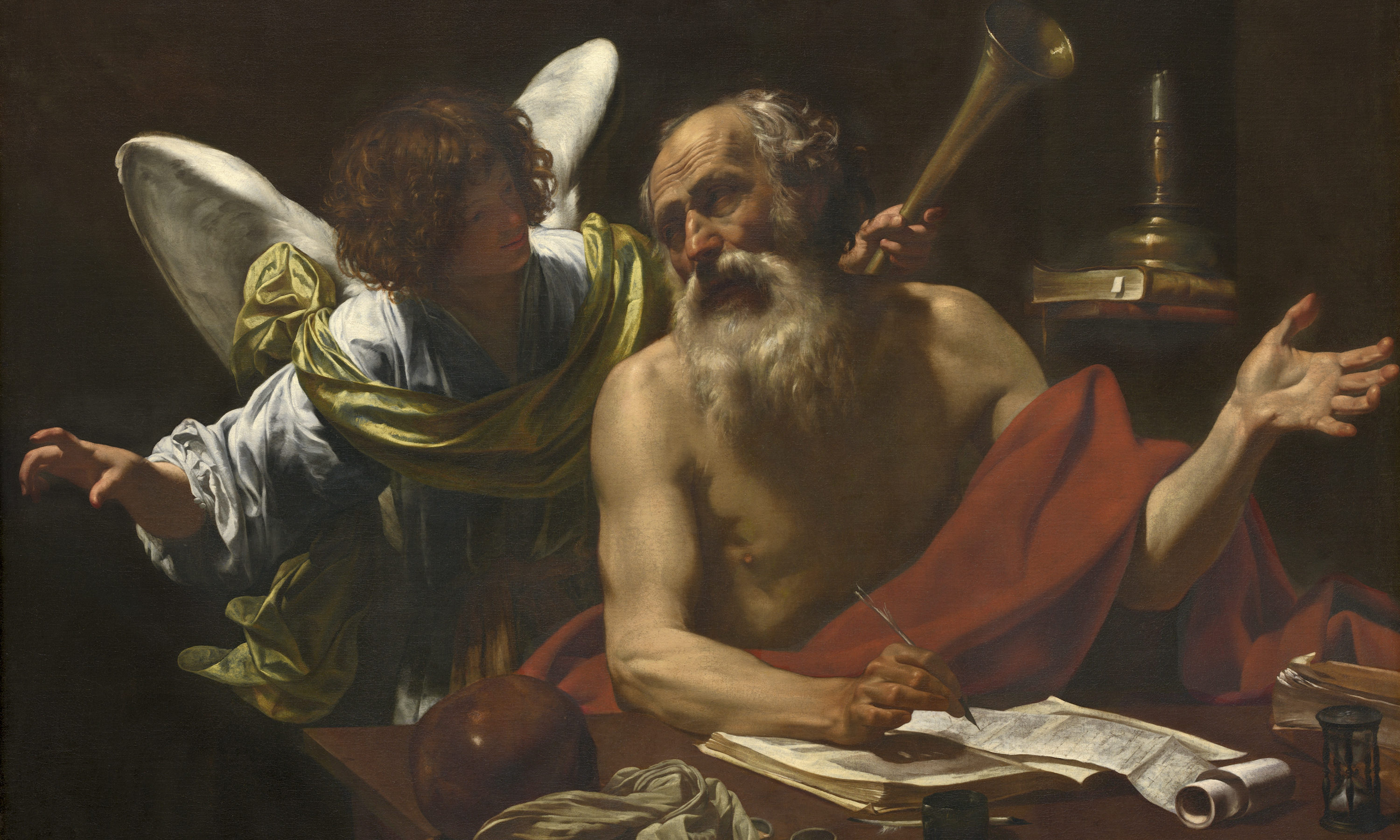 Simon Vouet, St. Jerome and the Angel