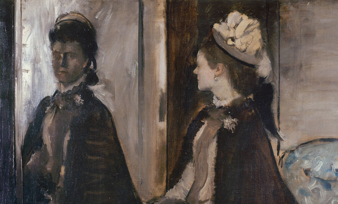 Image: Edgar Degas, Madame Jeantaud In The Mirror.