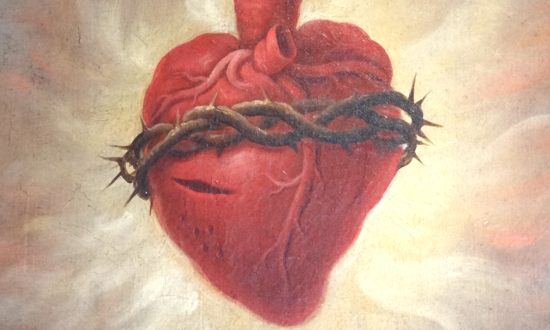 Adam Jones, Detail of Sacred Heart in Baroque Oil Painting (CC BY-SA 3.0)