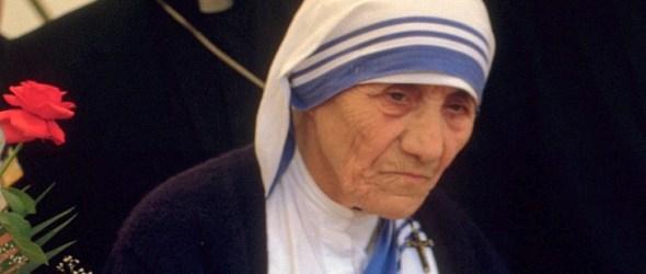 Mother Teresa of Calcutta in 1986 at a public pro-life meeting in Bonn, Germany. © 1986 Túrelio (via Wikimedia Commons), 1986 (Creative Commons CC-BY-SA-2.0 de)