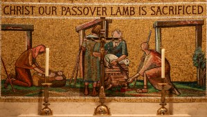 Fr. Lawrence Lew, O.P., Christ Our Passover Lamb is Sacrificed (used with permission)