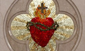 Photo by Lawrence Lew, Mosaic of the Sacred Heart (used with permission).
