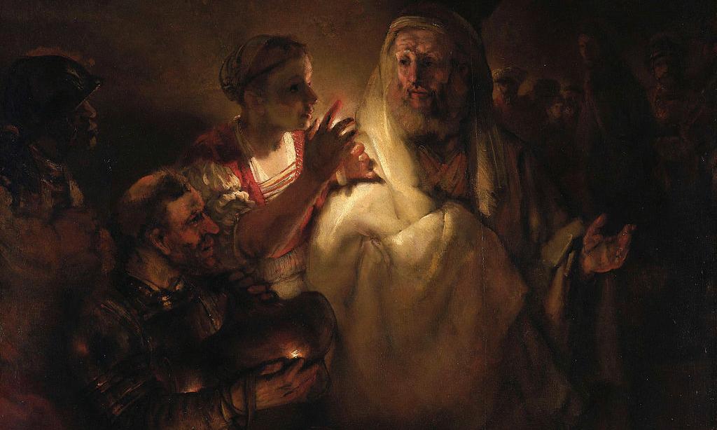 Image: Rembrandt, Denial of Peter.