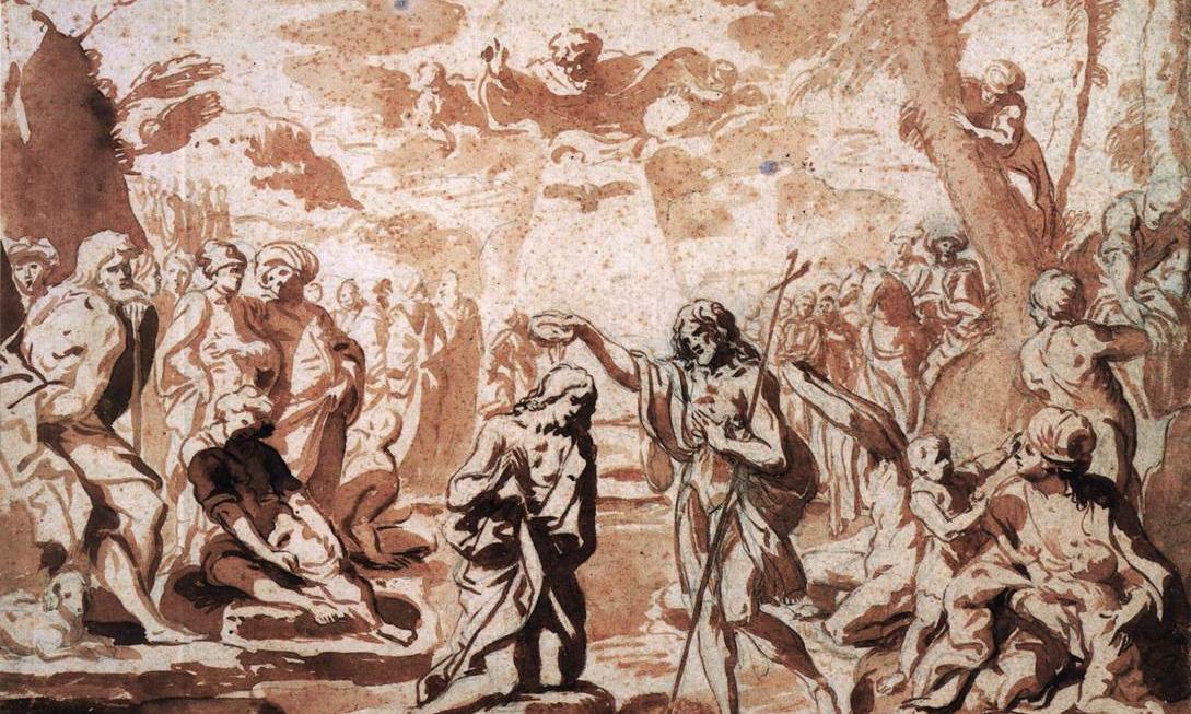 Elisabetta Sirani, Study for the Baptism of Christ
