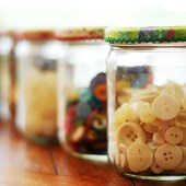 Pretty Jars for Organizing your Sewings Notions