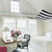 White floorboards and walls and ceilings. Oh my!