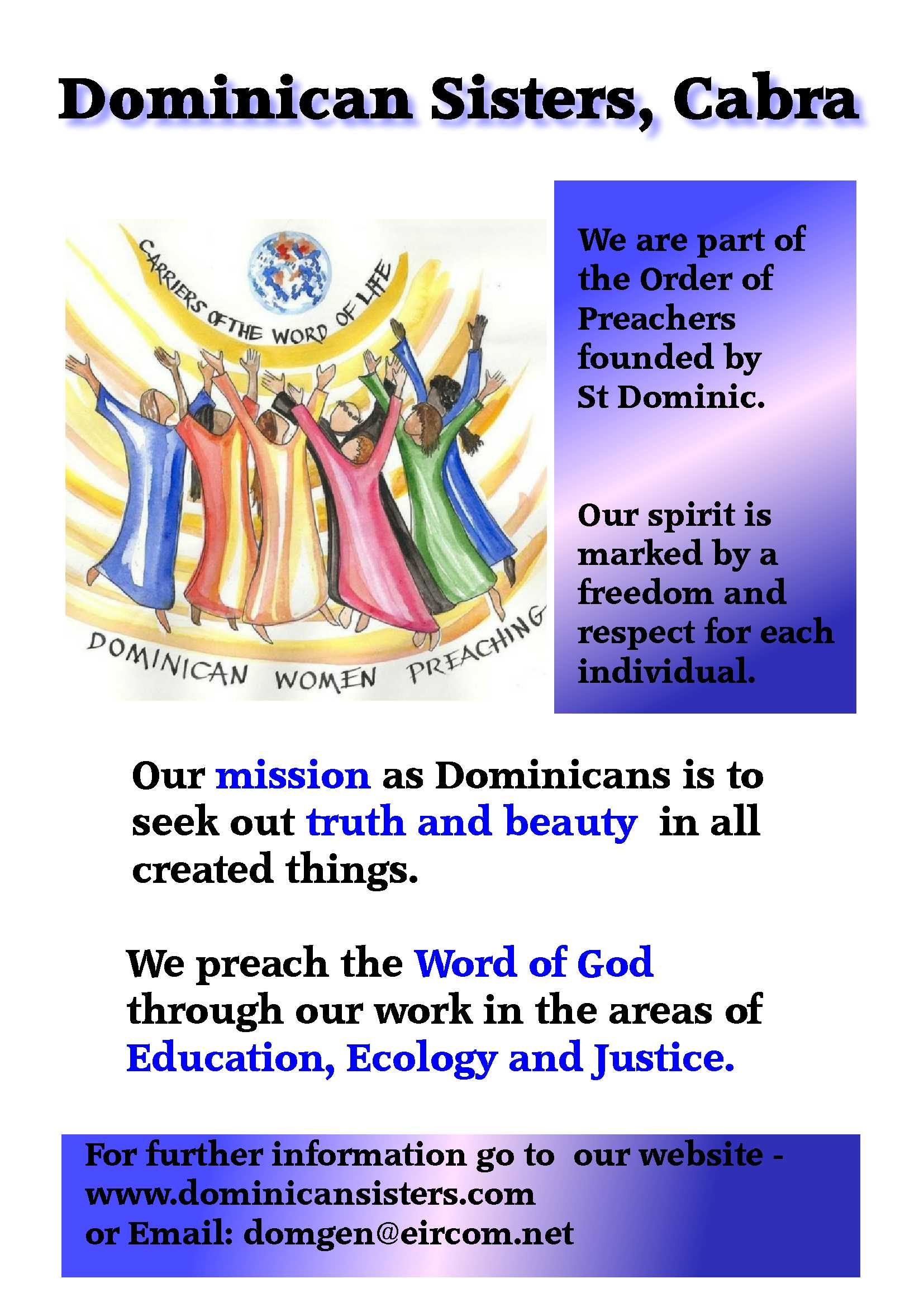 Vocations Promotion Dominican Sisters Cabra