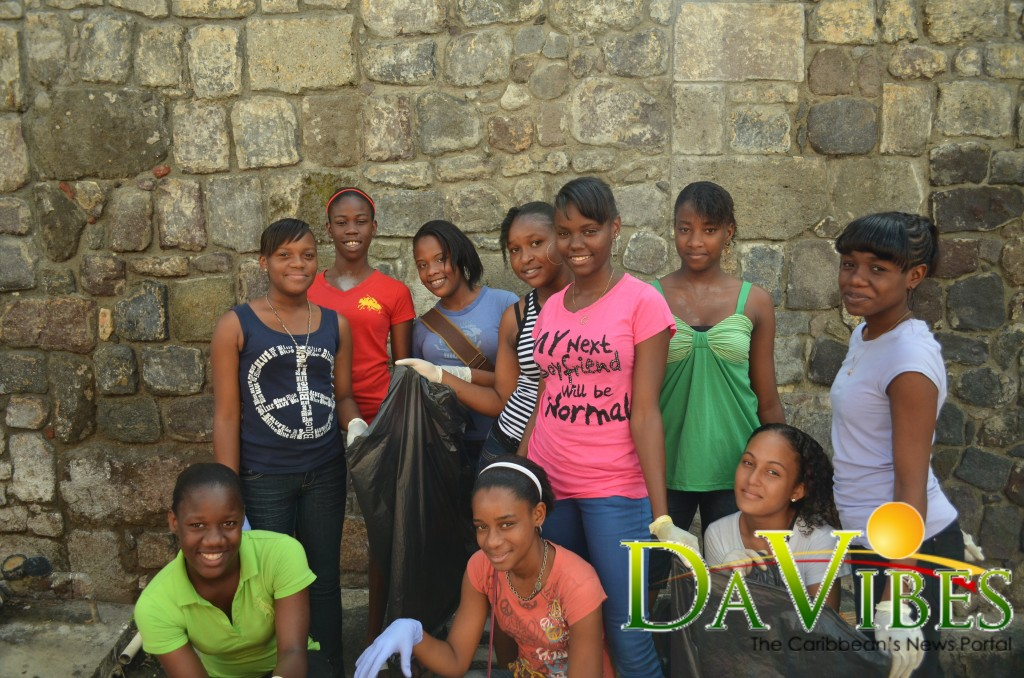 Local high school students partner to clean city of Roseau  Dominica Vibes News