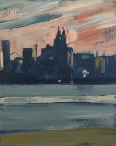 Liver building from the Wirral (March)