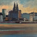 Liver building from the Wirral (April)