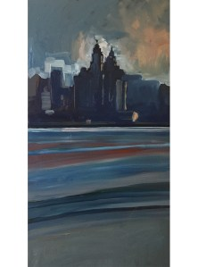 Liver building from the Wirral (April - four) large