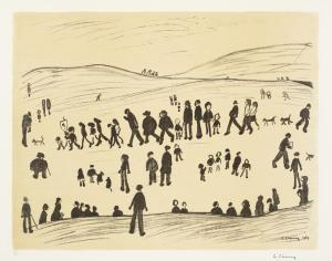 Sunday Afternoon 1969 by L.S. Lowry 1887-1976