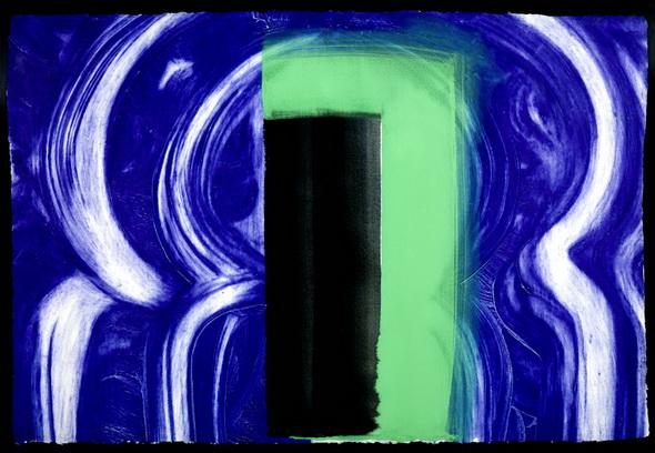 Moroccan Door 1990-1 by Howard Hodgkin born 1932