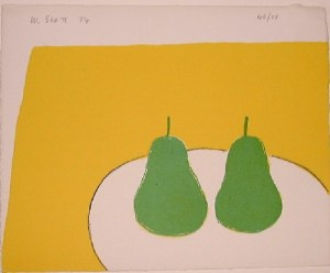 Green Pears Signed  by William Scott