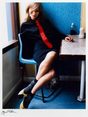 Kate in Blue Cafe Signed  by Mario Testino