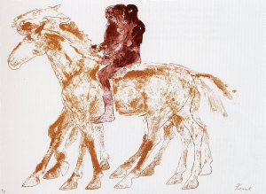 Three riders Signed  by Elisabeth Frink