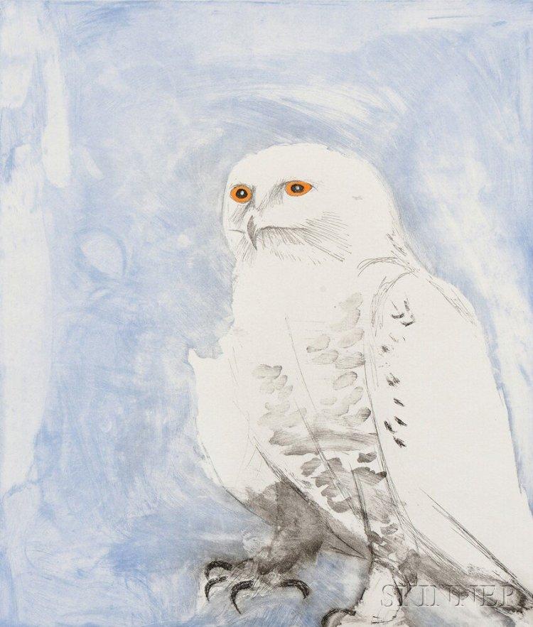 Snowy owl Signed  by Elisabeth Frink