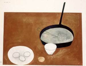 Still Life (with frying pan) Signed  by William Scott
