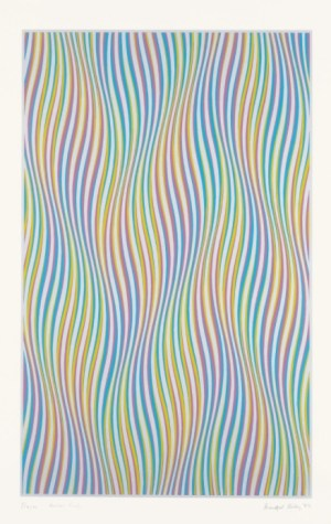 Elapse Signed  by Bridget Riley