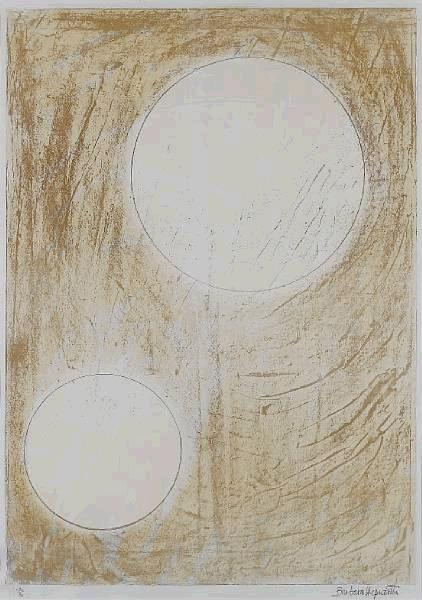 Sun and Water Signed  by Barbara Hepworth