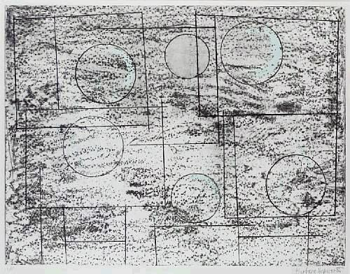 Squares and circles Signed  by Barbara Hepworth