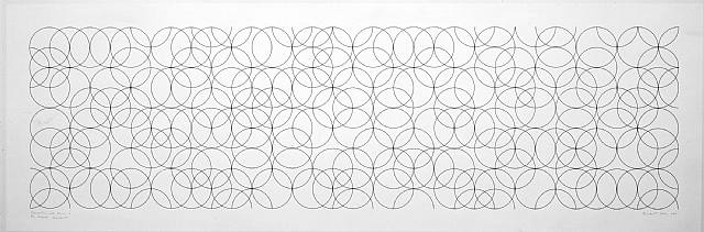 Composition With Circles 2 Signed  by Bridget Riley