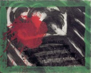 In an Empty Room Signed  by Howard Hodgkin