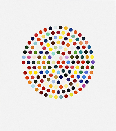 Cephalothin (spot print) Signed  by Damien Hirst