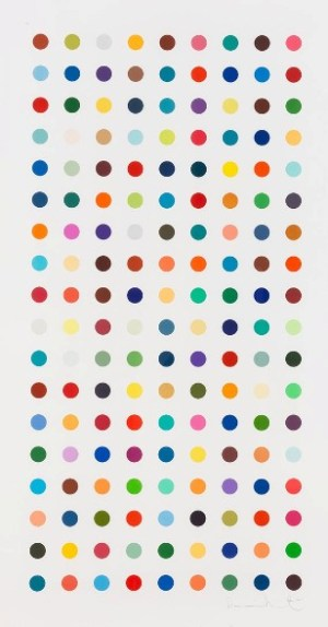 Methamphetamine (spot print) Signed  by Damien Hirst