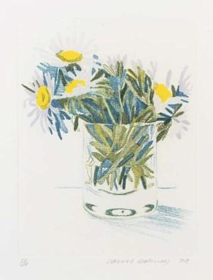 Marguerites Signed  by David Hockney