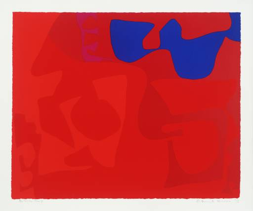 From Small Red January 1973 : 4 Signed  by Patrick Heron