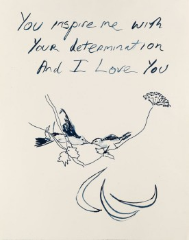 Birds 2012 London Olympic Print Signed  by Tracey Emin