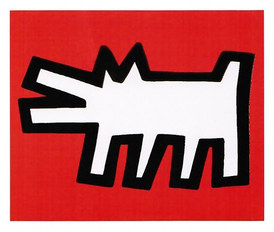 Icons #2 (Dog) Unsigned  by Keith Haring