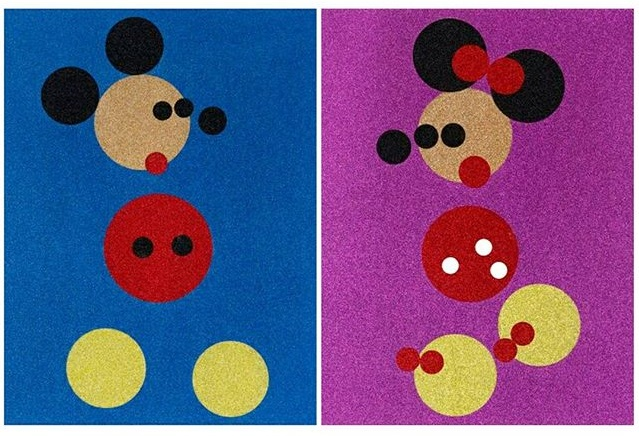 Mickey & Minne (Large) Signed  by Damien Hirst
