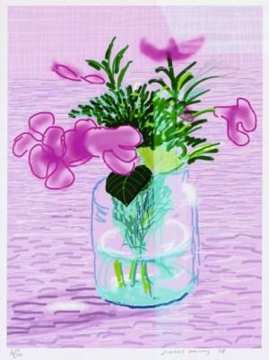 Lilacs Signed  by David Hockney