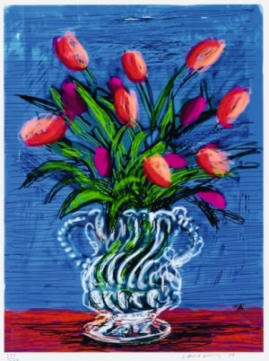 Tulips Signed  by David Hockney