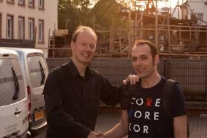 Martin Sonneborn mit Dominik Fries