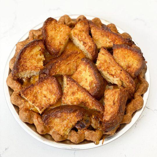 DAB Pie Night 2020 Breakfast Chicken Sausage & French Toast Pie