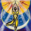 "yoga tree pose painting ""Rise 'N Shine"""