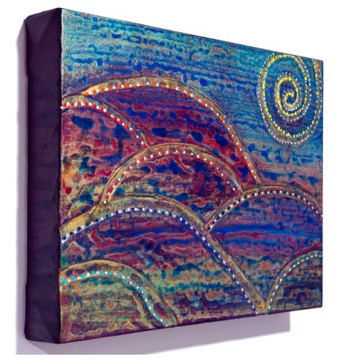 Rainbow Hills intuitive painting