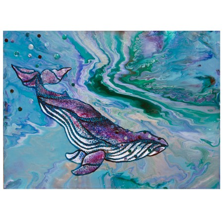 Into the Depths humpback whale intuitive painting