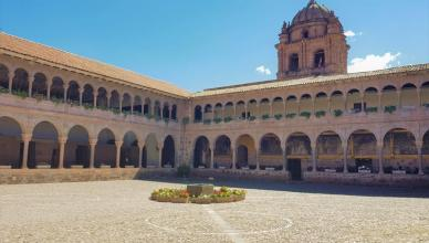 Cusco Qoricancha courtyard