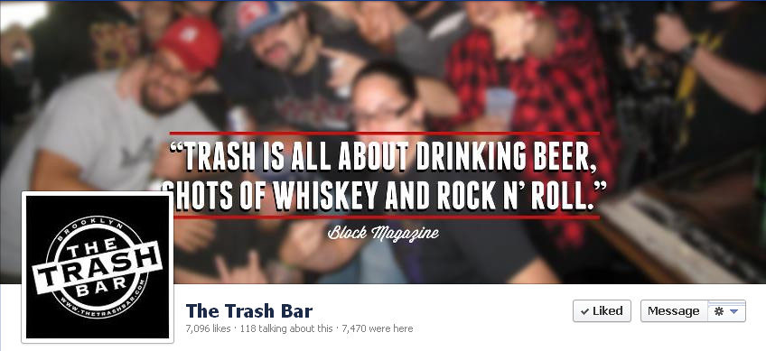 Trash bar Banner