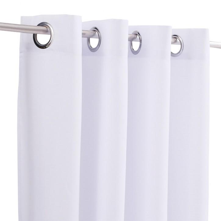 rideau tamisant a oeillets 145 x 250 cm pret a poser blanc