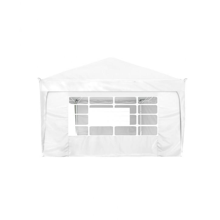 rideau supplementaire avec fenetre pour tonnelle basic et premium 295 x 195 cm blanc