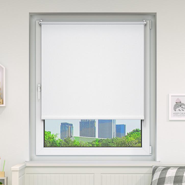 store enrouleur occultant sans percage pret a poser blanc 45 x 150 cm