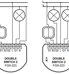 image of wiring both with 1 and with 2 circuits [ 962 x 845 Pixel ]