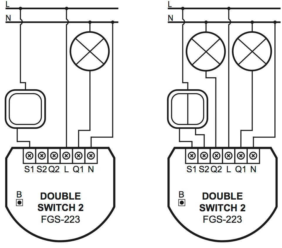 hight resolution of image of wiring both with 1 and with 2 circuits