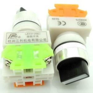 LAY37-11 x2 (Y090-11 x2)two second gear knob bottonePulsante bottone 1NO + 1NC CONTACT